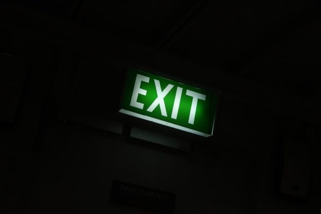 exit signs in the dark